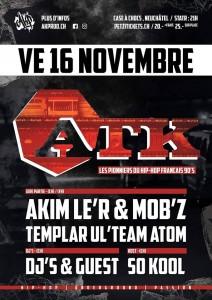 Flyer - Concert ATK à Neuchâtel (Suisse)